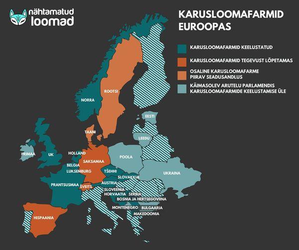 Euroopa keelustab karusloomafarme