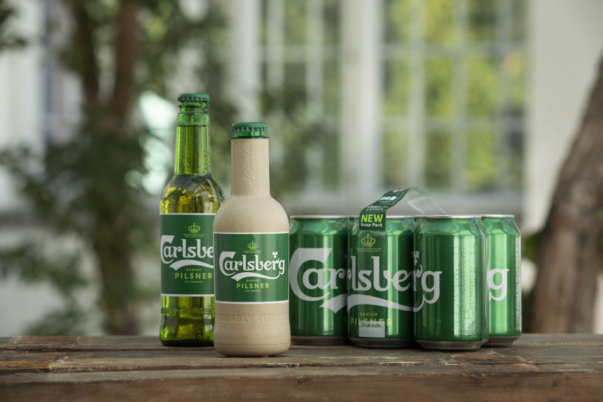 """Carlsberg esitles kahte """"paberist"""" õllepudeli prototüüpi"""