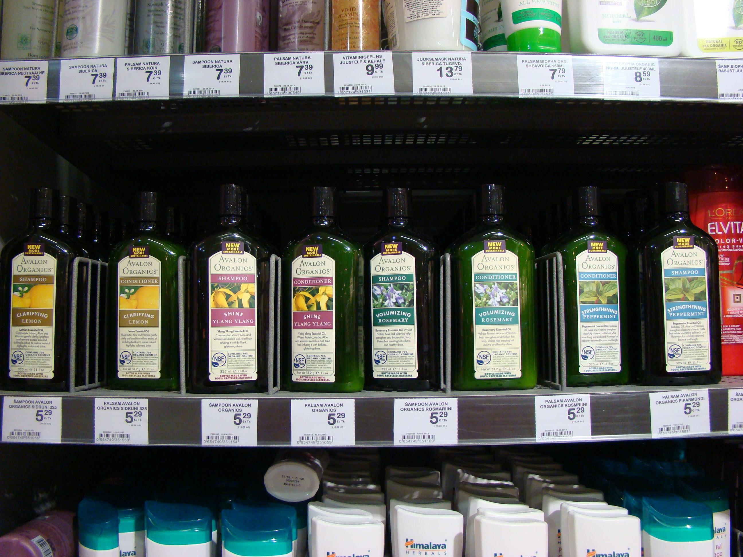 Avalon Organics šampoonid