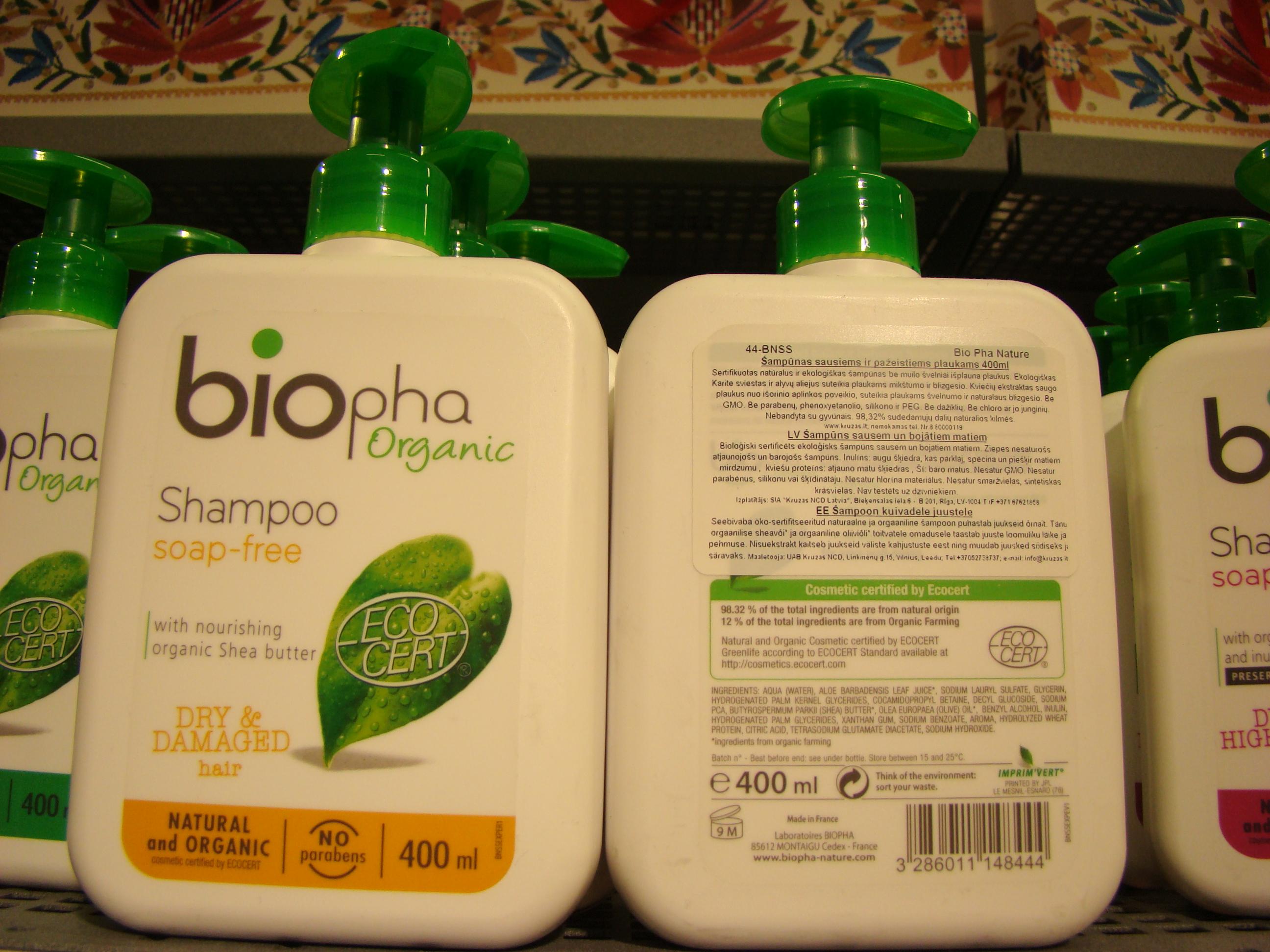 Biopha Organic šampoonid