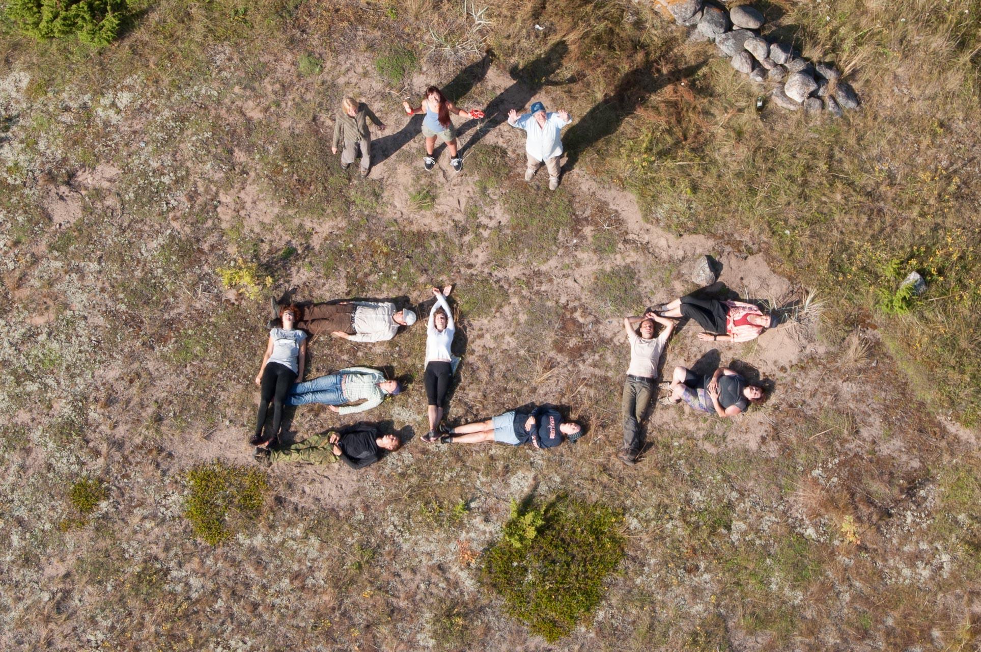 2014. aasta ELF-i suvistest talgutest osavõtjad. Foto: Ülo Veldre