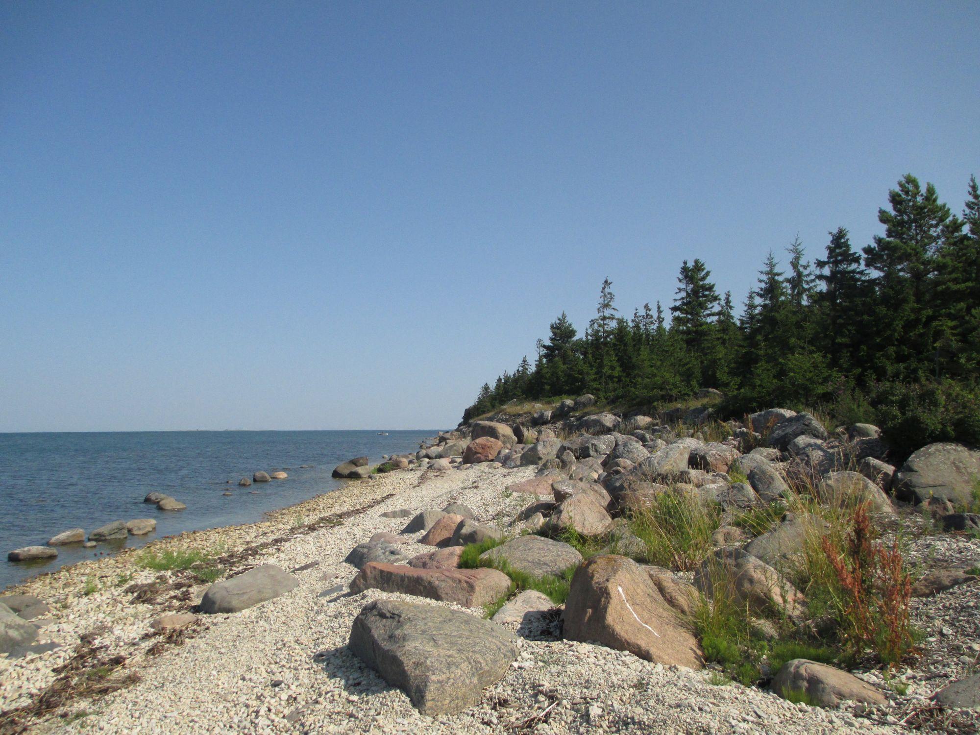Kesselaiu kivine rannik