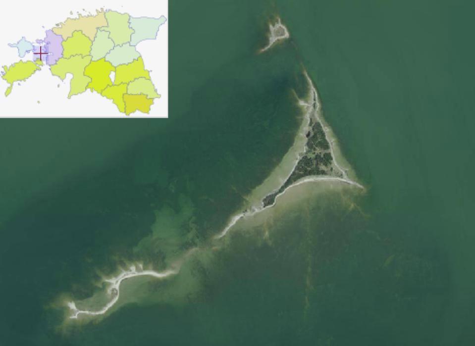 Ülal Tondirahu, keskel Kumari laid ja all Sipelgarahu. Allikas: Maa-ameti Geoportaal.