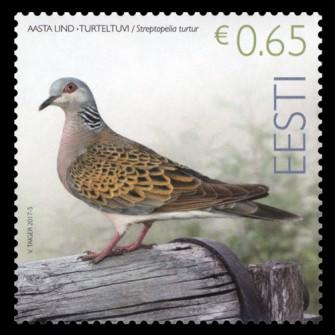 Eile ilmus 2017. aasta linnu kaelus-turteltuvi postmark