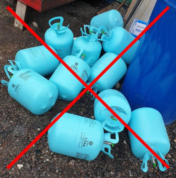 Ühekordselt kasutatavad keskkonnale ohtlikud gaasimahutid